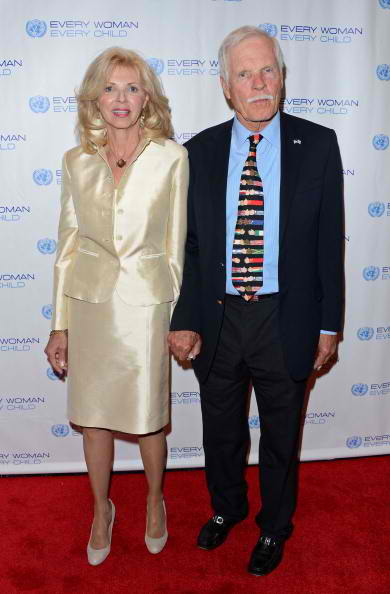 Ted Turner and guest