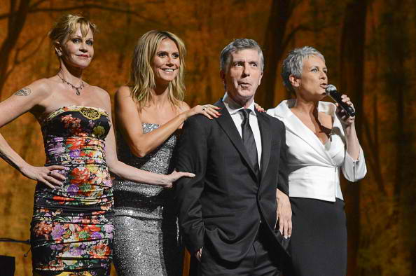 Actress Melanie Griffith, Project Runway host Heidi Klum, Host of Dancing With the Stars Tom Bergeron and Actress author Jamie Lee Curtis