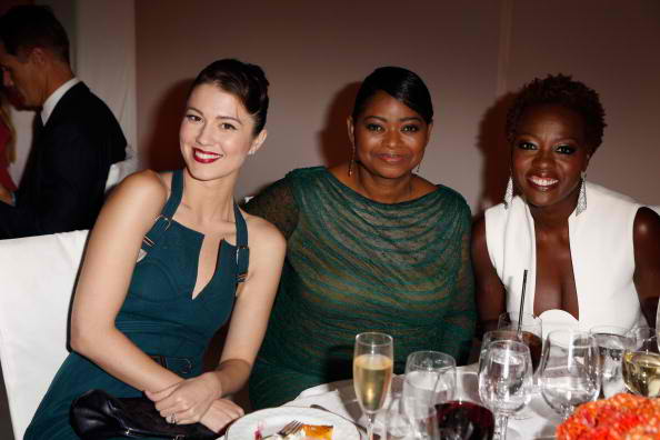 Actresses Mary Elizabeth Winstead, Octavia Spencer and Viola Davis