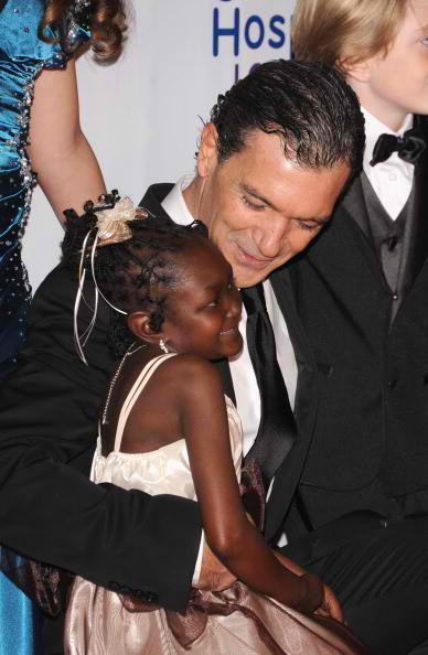 Antonio Banderas with patient