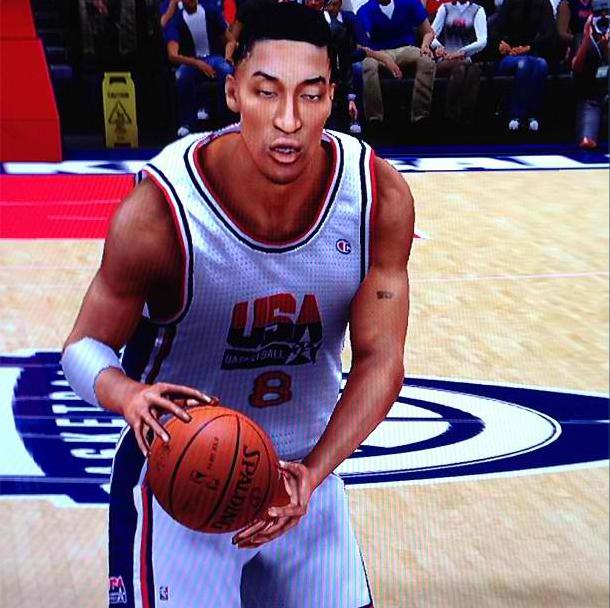 awesome drawing of Scottie Pippen