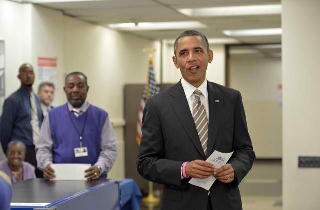 Barack Obama voting 2