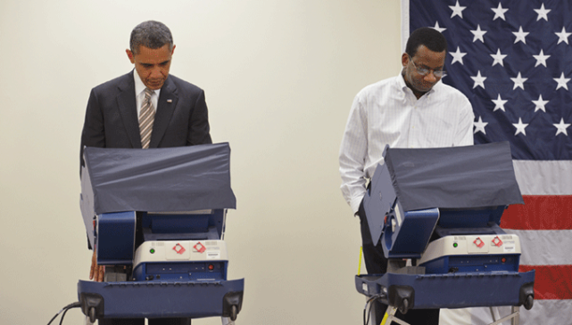 Barack Obama voting 4