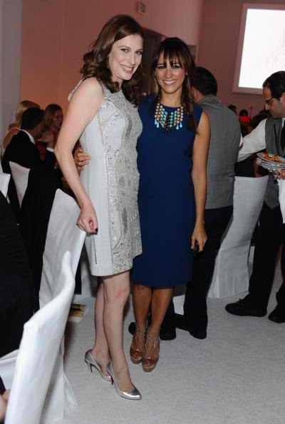 Entertainment Director of Elle, Jennifer Weisel and actress Rashida Jones