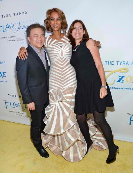 Ken Mok (L) and Tyra Banks