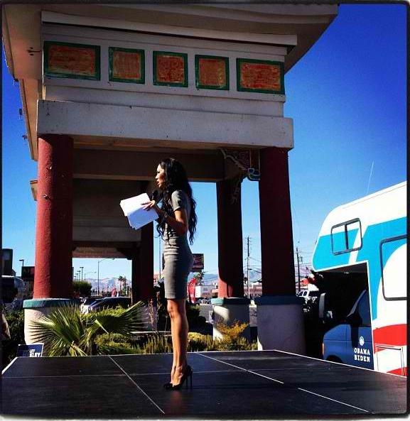 Kimora Lee Simmons campaigns in Nevada