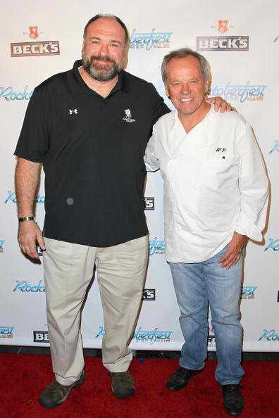 (L-R) James Gandolfini and Wolfgang Puck rocktoberfest red carpet