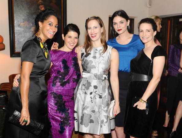 (L-R) Tracee Ellis Ross, Marisa Tomei, Liz Goldwyn, Jodi Lyn O'Keefe, and Kristin Davis 2