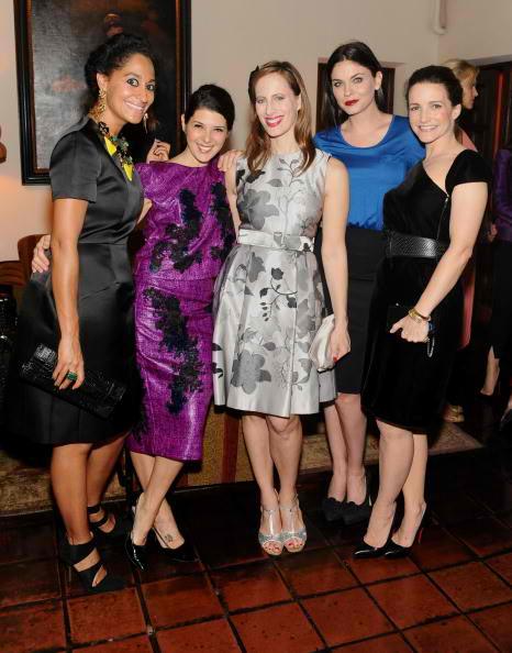 (L-R) Tracee Ellis Ross, Marisa Tomei, Liz Goldwyn, Jodi Lyn O'Keefe, and Kristin Davis