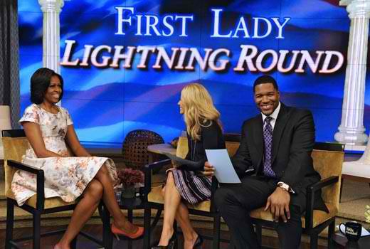 Michelle Obama live with Kelly 2