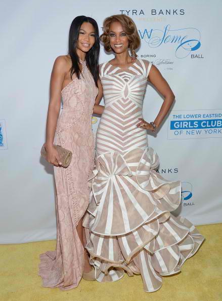 models Chanel Iman and Tyra Banks