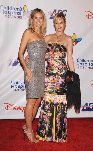 Noche honoree and Project Runway host Heidi Klum and actress Melanie Griffith 2