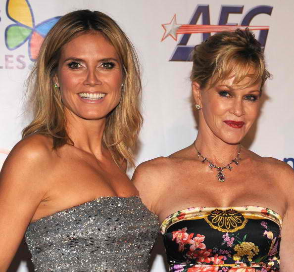 Noche honoree and Project Runway host Heidi Klum and actress Melanie Griffith