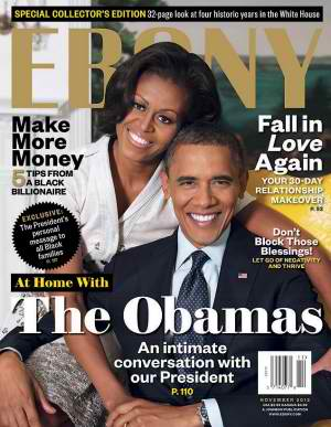 Obama Ebony November 2012 cover