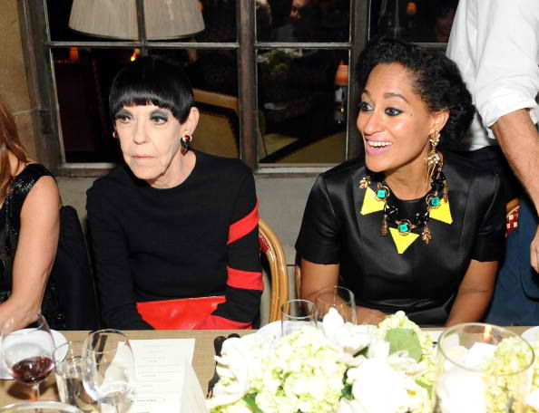 Peggy Moffitt (L) and Tracee Ellis Ross