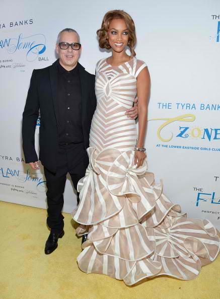 Ricky Kenig (L) and Tyra Banks