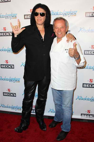 Rock Icon Gene Simmons And Celebrity Chef Wolfgang Puck