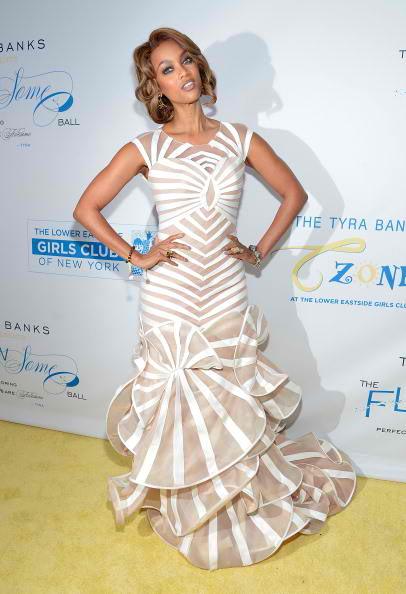 Tyra Banks strikes a pose