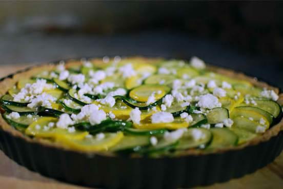 zucchini tart with feta