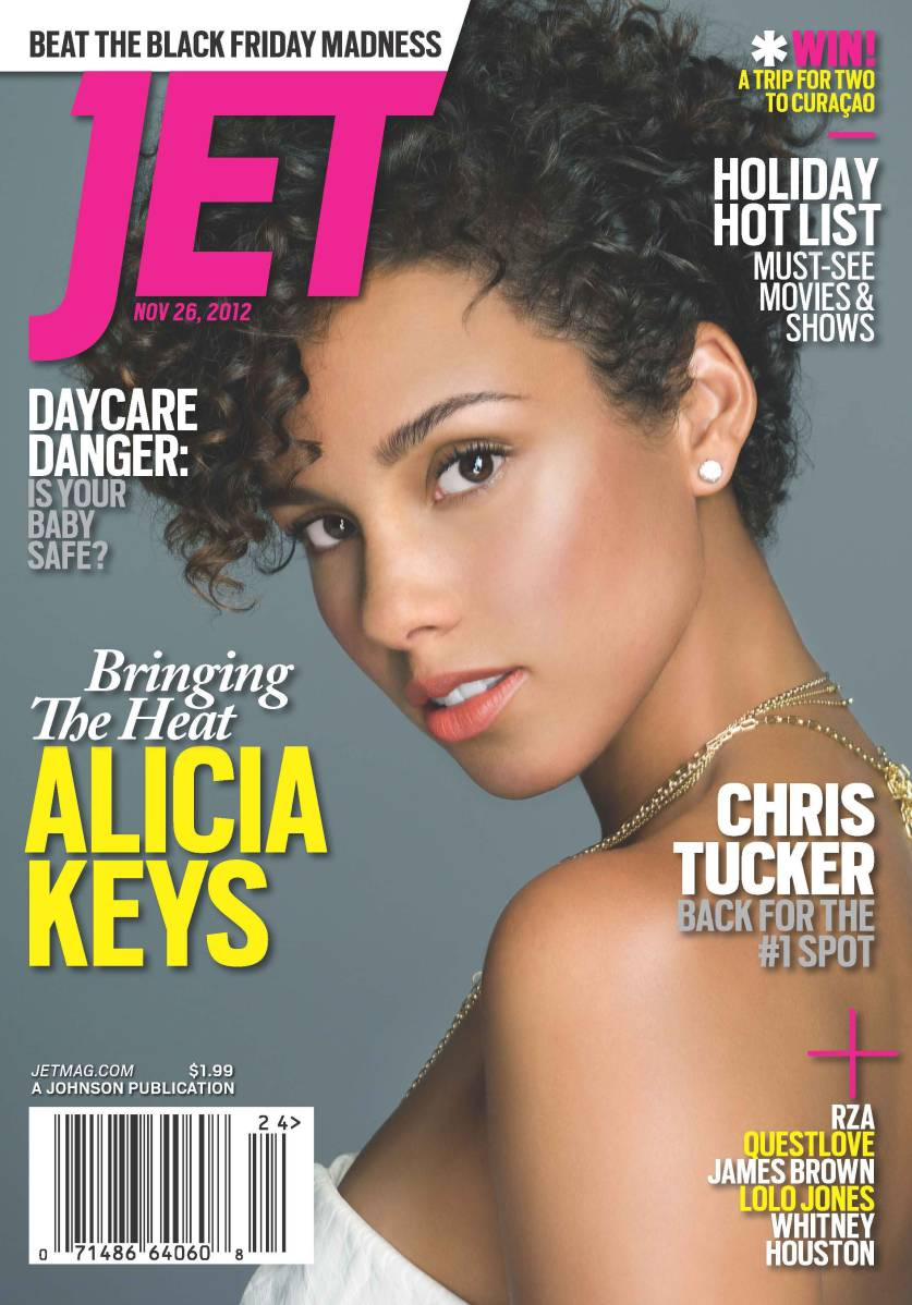 Alicia Keys Jets December 2012 magazine cover