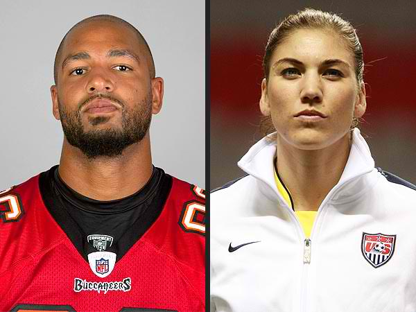Hope Solo and Jeremy Stevens