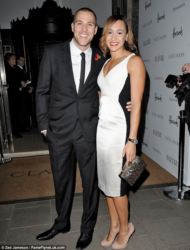 Jessica Ennis and fiance Andy Hill
