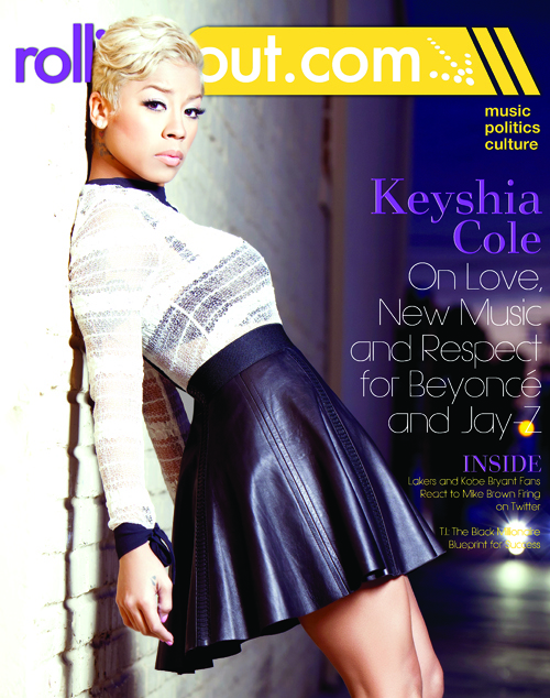 Keyshia Cole Rolling Out magazine front cover
