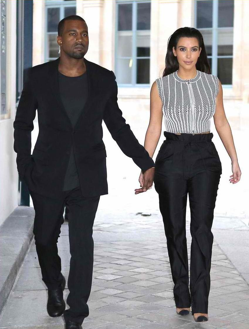 kim kardashian and kanye west - couple