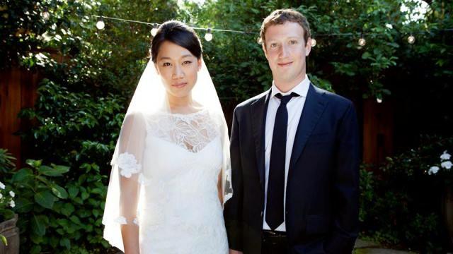 Mark Zuckerberg and Priscilla Chan wedding day