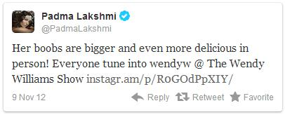 Padma Lakshmi tweet about Wendy Williams