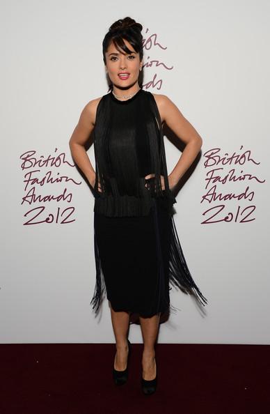 Salma Hayek British Fashion Awards 2