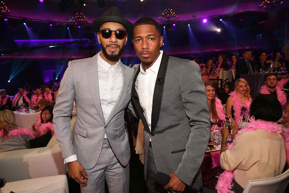 Swizz Beatz and Nick Cannon at Halo Awards
