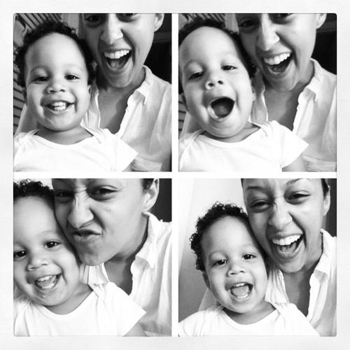 Tia Mowry and Cree silly faces