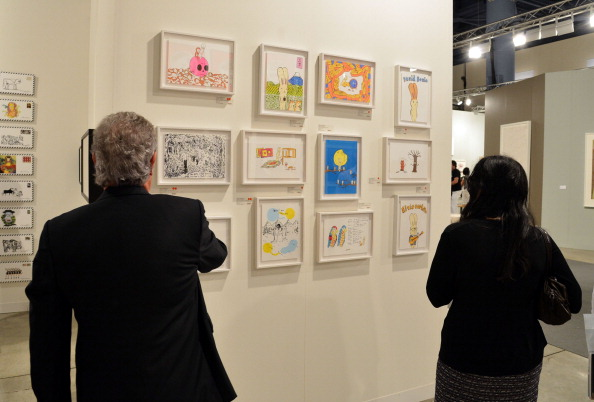 A general view of the Poligrafa Obra Grafica Gallery during Art Basel