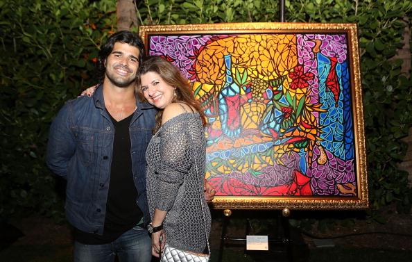 (L-R) Alex and Aida Mijares attend Alexander Mijares Art Basel
