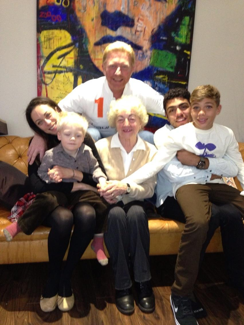 Boris Becker and family Xmas 2012 1