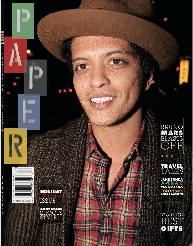 Bruno Mars Papermag interview 1