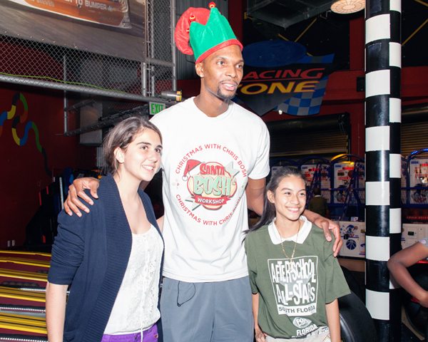 Chris Bosh and adrienne bosh donate gifts 8