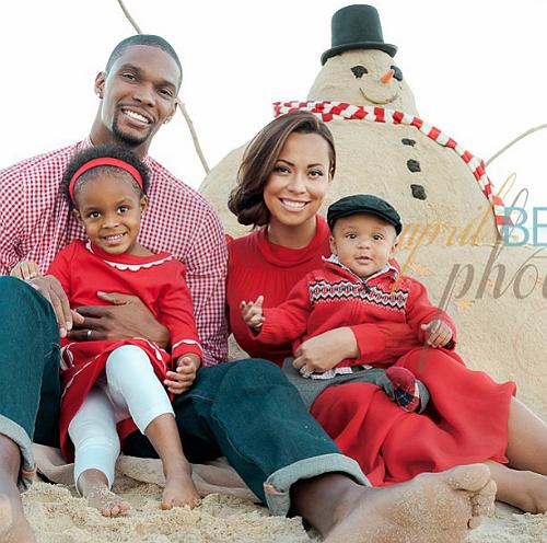 Chris Bosh and family Xmas 2012 1