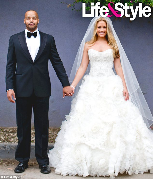 Donald Faison and Cacee Cobb wedding picture
