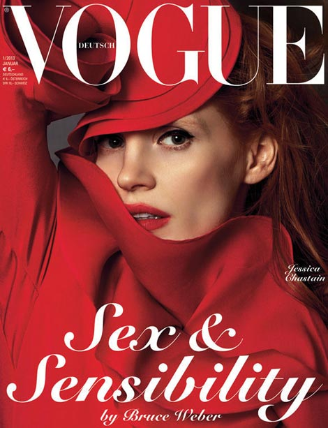 Jessica Chastain Vogue Germany January 2013 cover