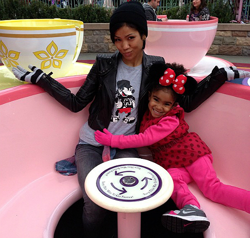 Jhene Aiko and daughter Namiko Disney Xmas 2012 1