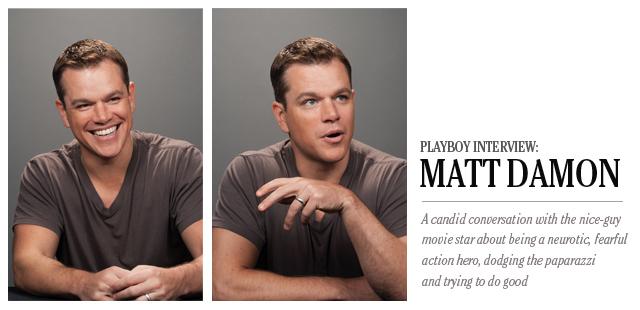 Matt Damon playboy