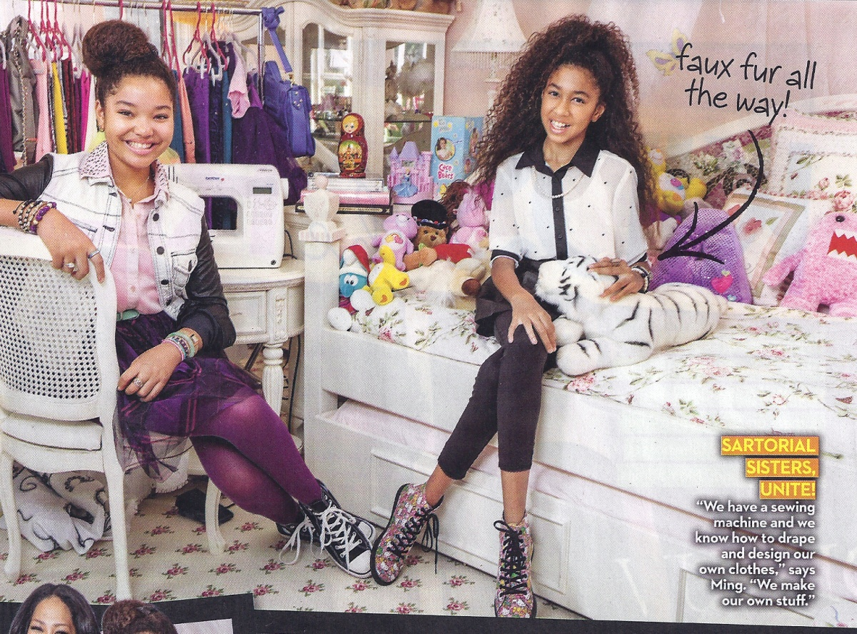 Ming Lee and Aoki Lee in OK Magazine 2