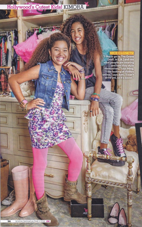Ming Lee and Aoki Lee in OK Magazine