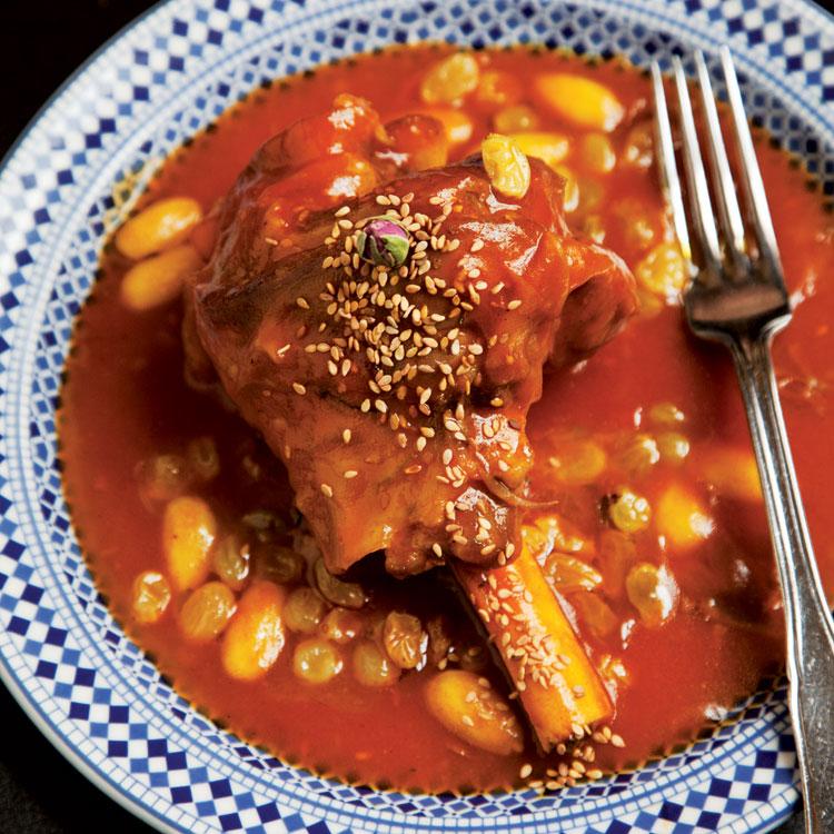 Mrouzia honey braised lamb shanks