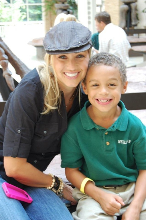 Nicole Derick Jones and son