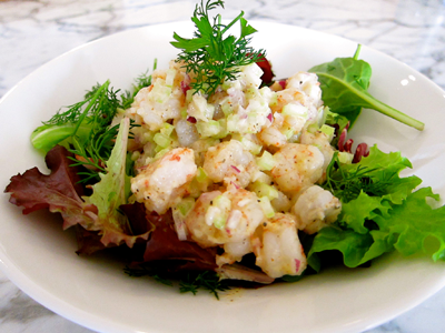 rock shrimp salad comodo