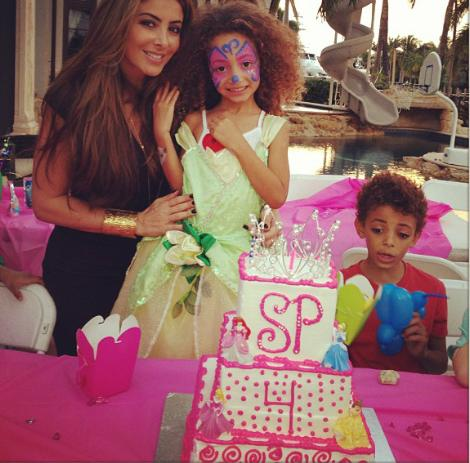 Sophia Pippen celebrates 4th birthday Dec 2012 2