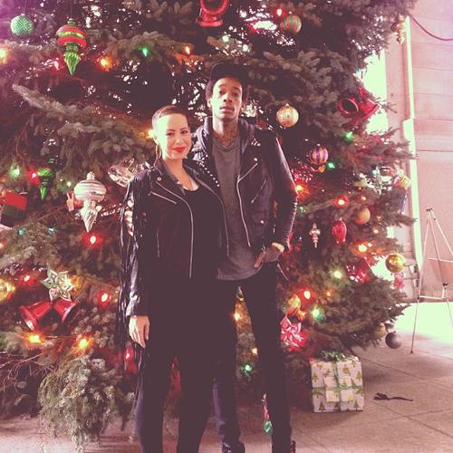 Wiz Khalifa and Amber Rose Xmas 2012